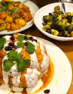 Whole tandoori roasted cauliflower – from our Soulful Retreat | Mira